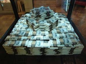 money stack of money