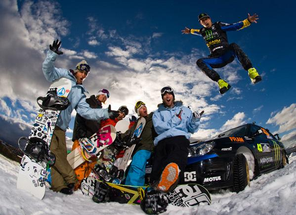 ken block and the dc crew Living The Life   Ken Block: Co Founder of DC Shoes and Pro Rally Racer