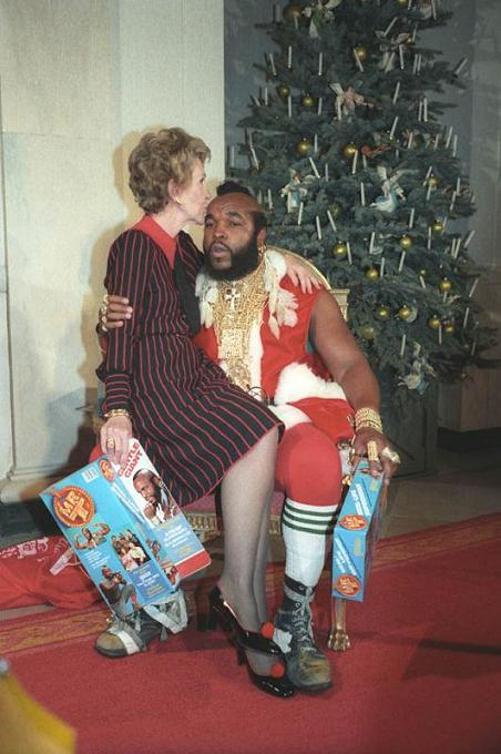 nancy reagan and mr t as santa clause christmas 1983 The Friday Shirk Report   July 31, 2009 | Volume 16