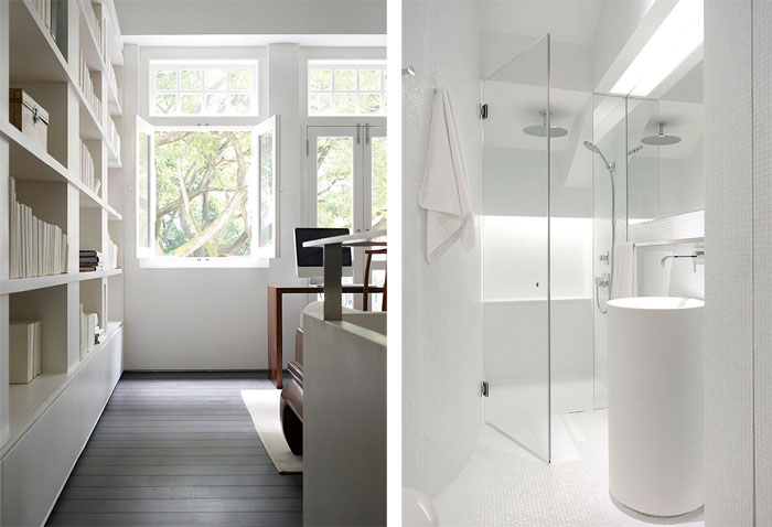 55 blair road singapore second floor study and bathroom An Elegant Solution To A Long And Narrow Space