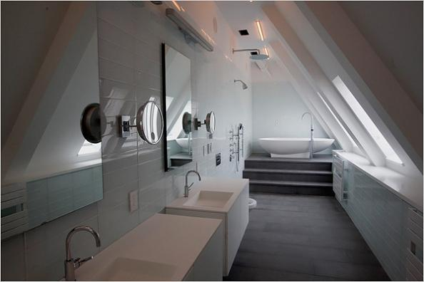 clocktower penthouse master bathroom The Most Expensive Property In Brooklyn, New York