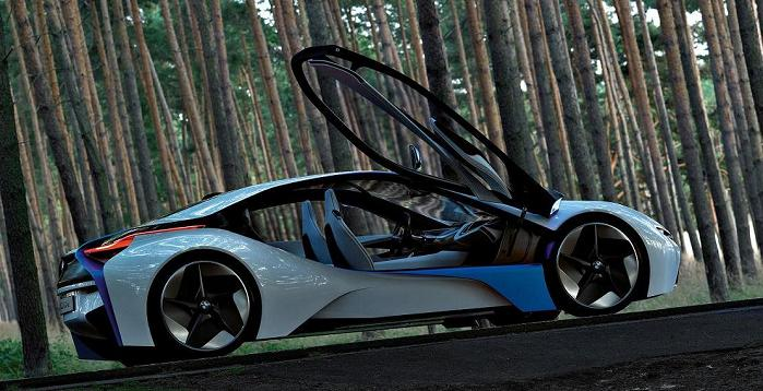 bmw concept hybrid with suicide gullwing doors