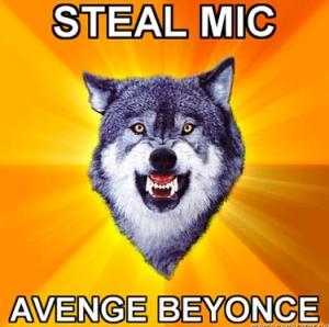 kanye wolf steal mic avenge beyonce kanye wolf steal mic avenge beyonce