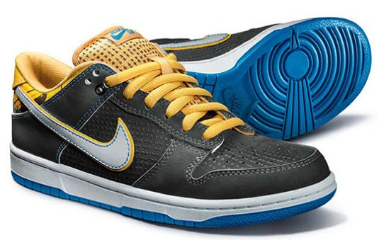 nike dunk low sb black blue yellow Nike Shoes Made of Junk, Become Art