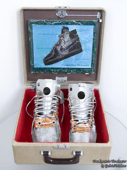 nike terminators high dead stock new in box made of old parts Nike Shoes Made of Junk, Become Art