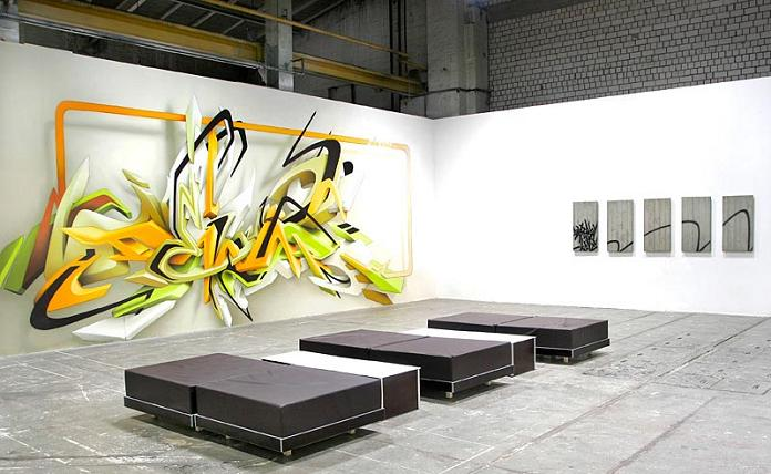 daim exhibit gallery showcase 3D INSANITY With Only Four Letters