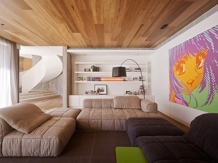 interior design living room inspiration Yamakoya: The Japanese Bookshelf Cabin