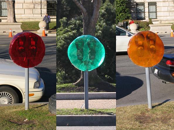 lollipop art parking meters mark jenkins This is Art...with Packaging Tape! Meet Mark Jenkins
