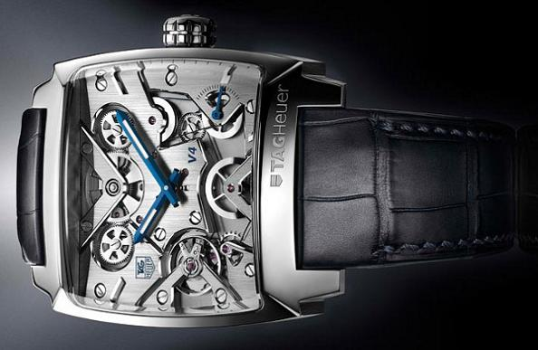 tag heur monaco v4 watch no gears Gears of Bore: The Worlds First Belt Driven Watch