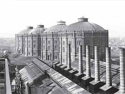 the original gasometers of vienna pre rennovation Industrial Renovation: The Gasometers of Vienna