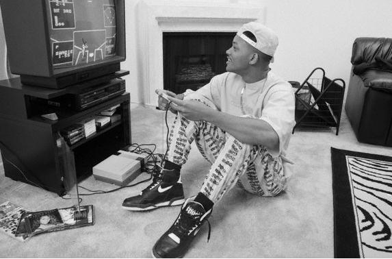 will smith fresh prince playing nintendo black and white 90s The Friday Shirk Report   October 16, 2009 | Volume 27