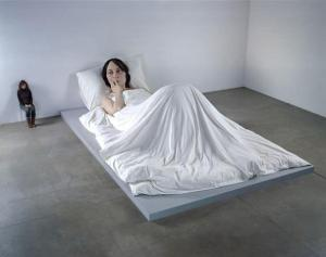 giant woman in bed sculpture ron mueck giant woman in bed sculpture ron mueck