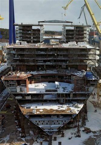 largest passenger ship ever under construction The Largest Cruise Ship in the World is Five Times the Size of the Titanic