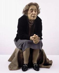 old lady super realistic scultpure art ron mueck old lady super realistic scultpure art ron mueck