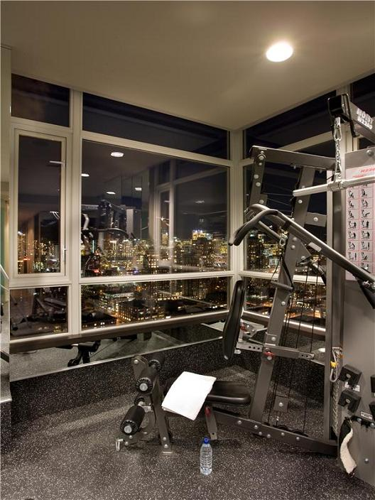 private gym in apartment The $10 Million Aquarius Penthouse Feels Like a Nightclub