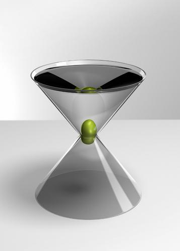 martini glass with olive stopper to22 design The Entire Universe in the Palm of your Hand