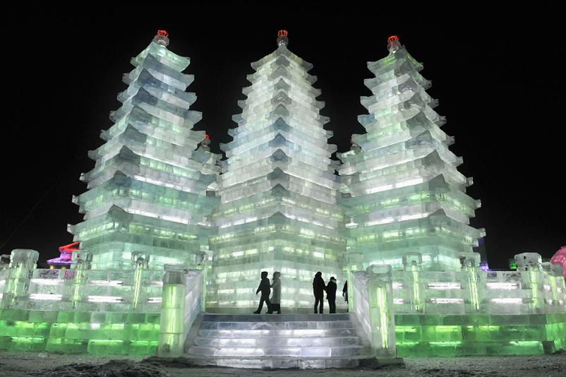 harbin ice and snow scultpure festival 2009 pagoda Picture of the Day   January 9, 2010