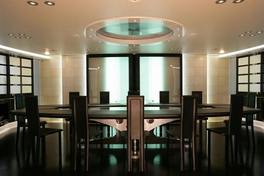 luxury yacht dining room Maltese Falcon: Third Largest Sailing Yacht in the World