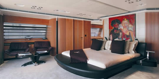 maltese falcon bedroom Maltese Falcon: Third Largest Sailing Yacht in the World