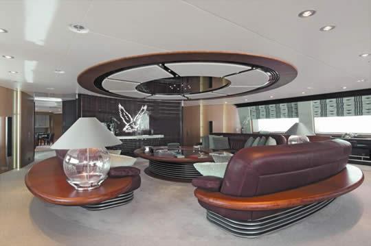 maltese falcon living room Maltese Falcon: Third Largest Sailing Yacht in the World