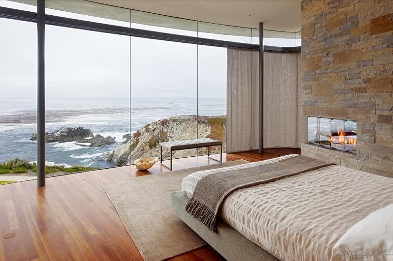 master bedroom with oceanfront view of pacific The Sifters Top 10 Homes of 2010