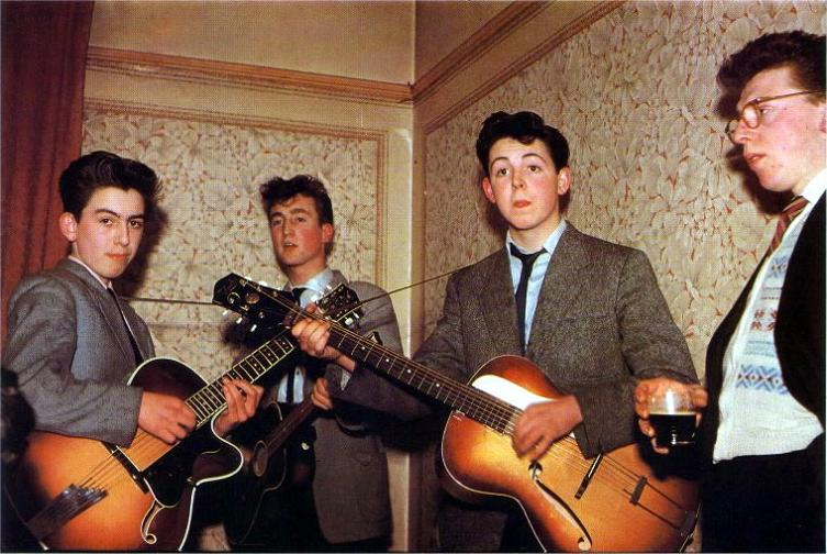 young beatles john lennon paul mccartney george harrison teenagers Picture of the Day   January 24, 2010