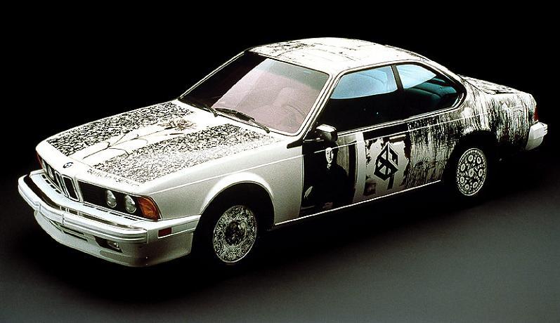bmw art car robert rauschenberg 1986 The Evolution of the BMW Art Car
