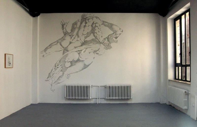 mural made out of staples baptiste debombourg Picture of the Day   February 25, 2010