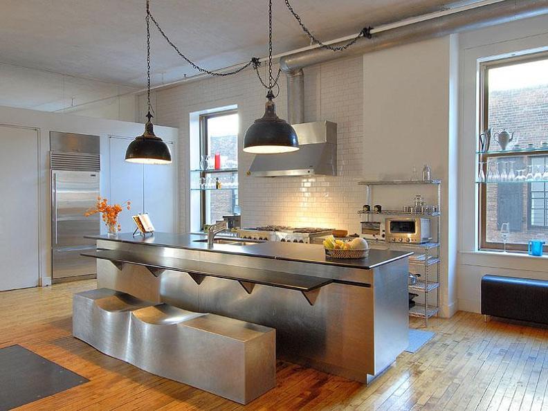 open concept kitchen luxury condo living space Ridiculous Open Concept Luxury Loft in SoHo