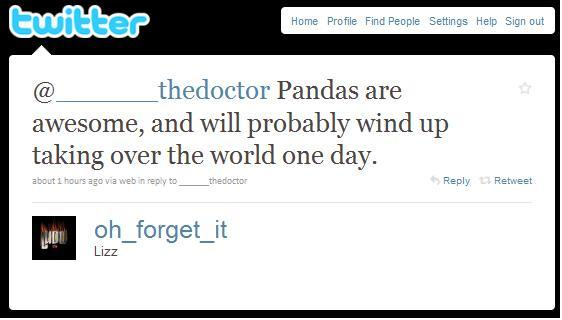 panda tweet 1 11 Reasons why the Bronze goes to... Pandas!