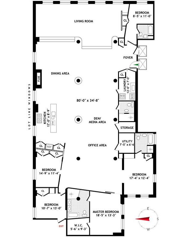 the new museum building floor plan layout soho manhattan nyc Ridiculous Open Concept Luxury Loft in SoHo