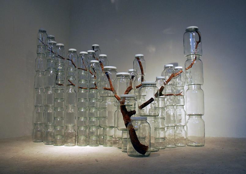 tree art in jars art by naoko ito Branching Out: Tree Art by Naoko Ito