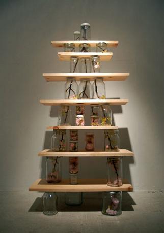 tree chopped up into jars naoko ito Branching Out: Tree Art by Naoko Ito