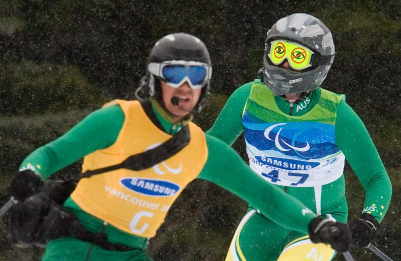 2010 paralympic games ski goggles with drawn on eyes Picture of the Day   March 17, 2010