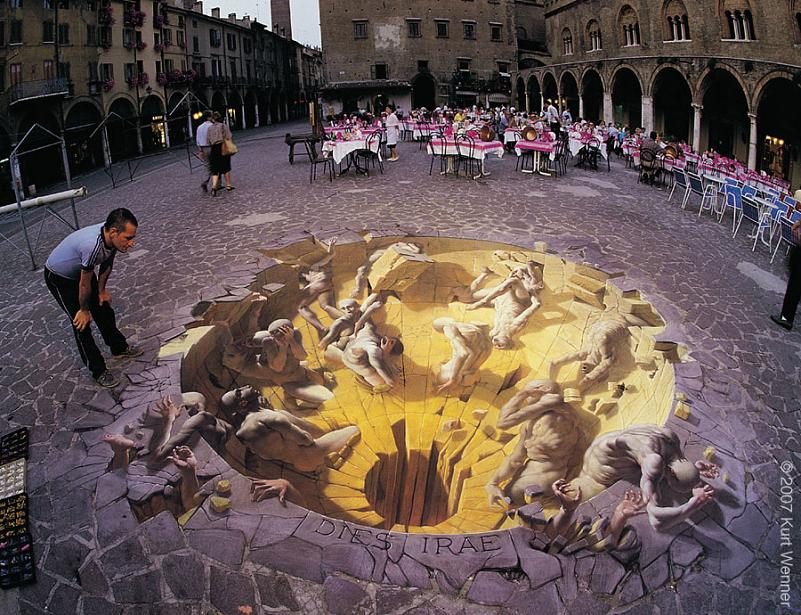 3d sidewalk art kurt wenner The Inventor and Master of 3D Sidewalk Chalk Art   Kurt Wenner