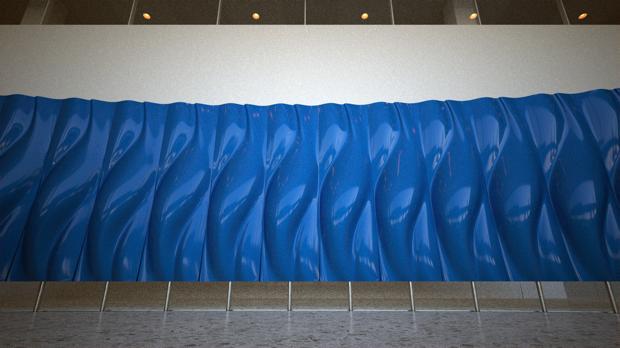 art installation at hp headquarters palo alto california Living Lobby Art: The HP Manilfold by Tronic