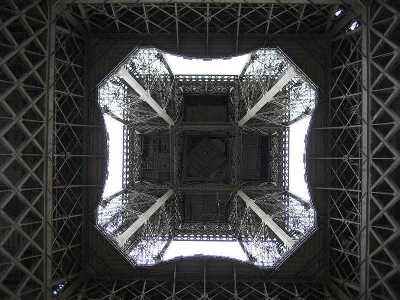 bottom of the eiffel tower looking up Picture of the Day   March 20, 2010