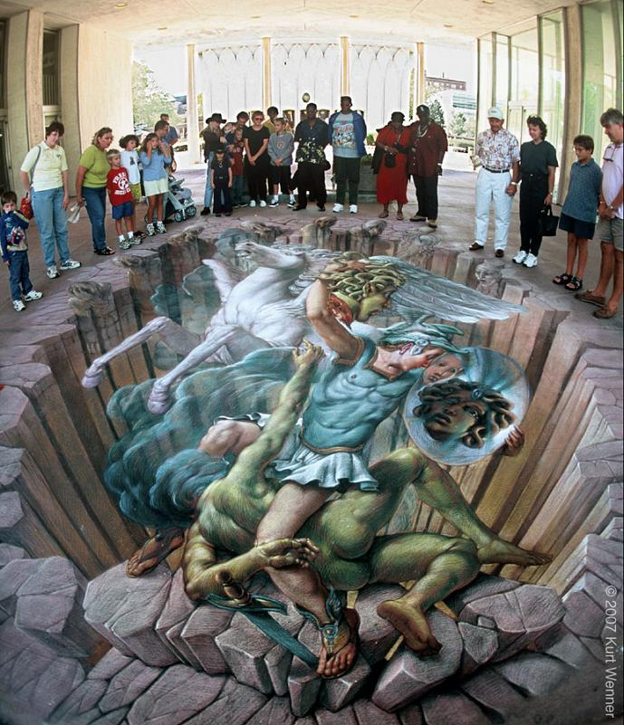 chalk art in 3d kurt wenner The Inventor and Master of 3D Sidewalk Chalk Art   Kurt Wenner