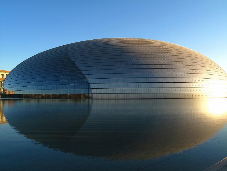 chinese egg looking building ncpa beijing The Egg Building in China   National Centre for Performing Arts