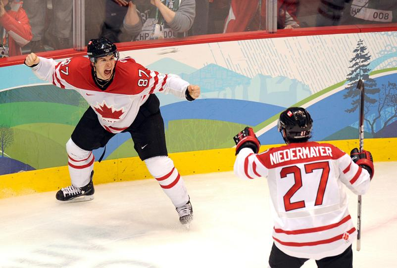 crosby celebrates ot game winner vancouver 2010 olympics gold medal Picture of the Day   March 1, 2010
