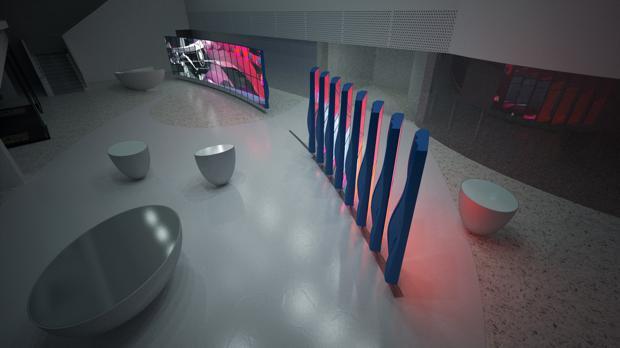 hp manifold permanent display Living Lobby Art: The HP Manilfold by Tronic