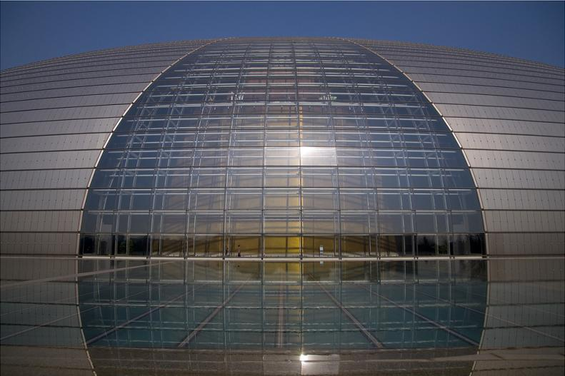 huge oval shaped building in china The Egg Building in China   National Centre for Performing Arts