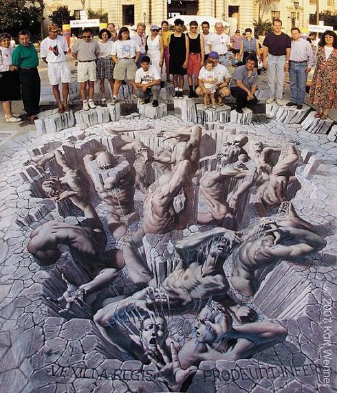 kurt wenner sidewalk art The Inventor and Master of 3D Sidewalk Chalk Art   Kurt Wenner