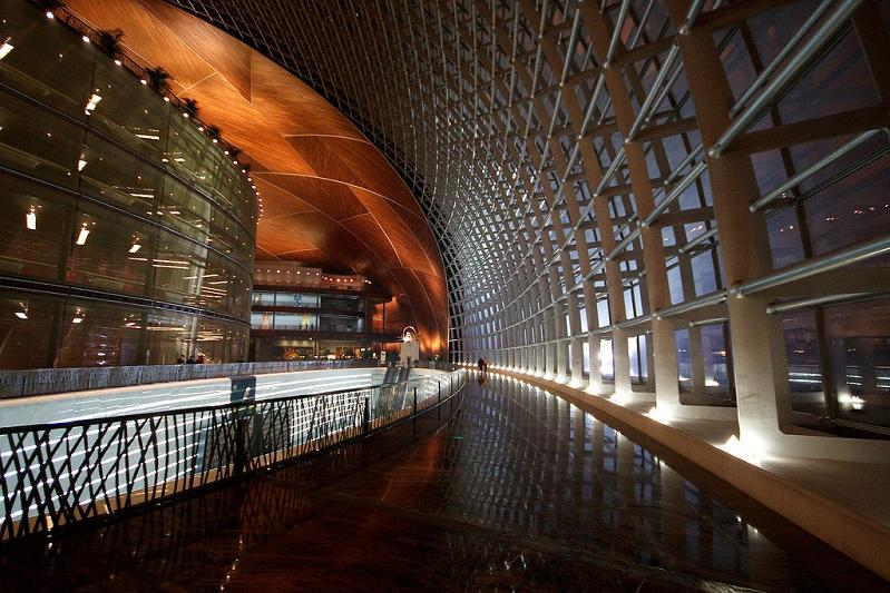 the chinese ncpa interior The Egg Building in China   National Centre for Performing Arts