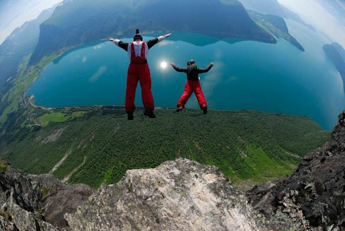 base jumpers leaping off cliff The 10 Biggest and Best Jumps of All Time