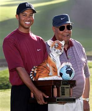 earl woods with tiger The Recurring Marketing Theme: Tiger and his Dad, Earl Woods