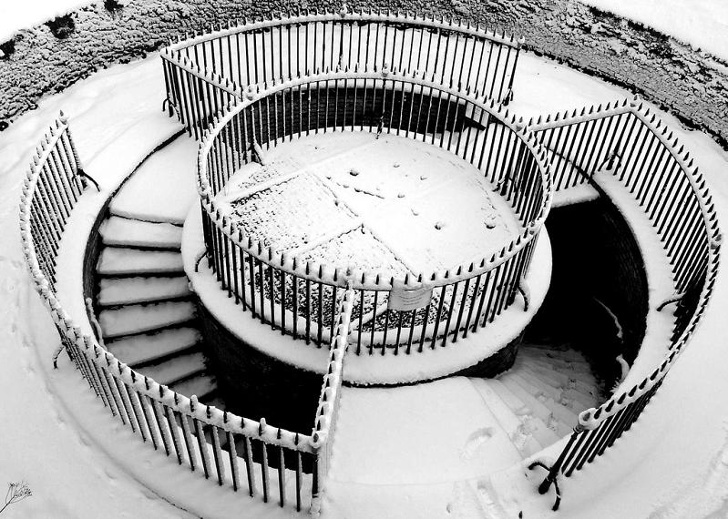 grand shaft triple spiral staircase dover western heights 25 Stunning Images of Spiral Staircases