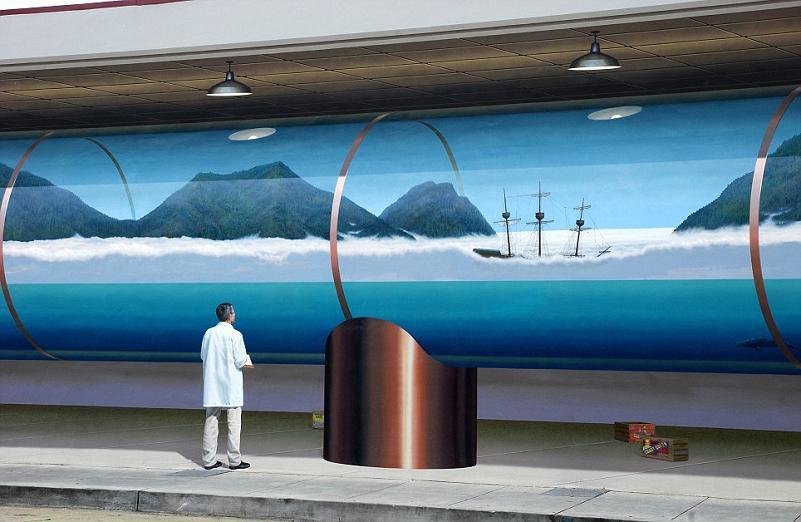 john pugh trompe loeil mural