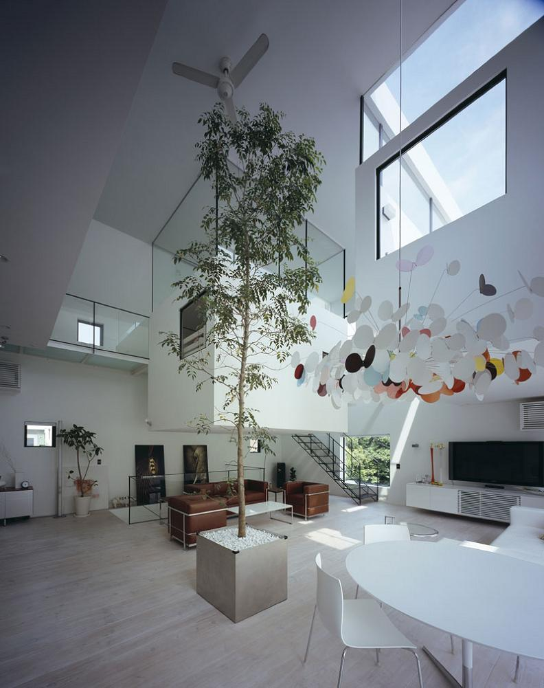 kre house shirokane tokyo japan with hyrdaulic lift Want to See a Lamborghini in a Living Room?