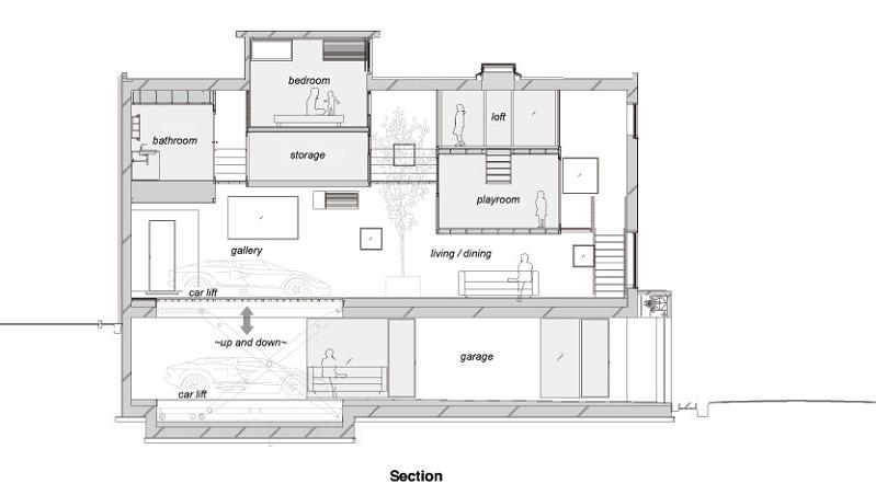 kre house tokyo japan layout Want to See a Lamborghini in a Living Room?